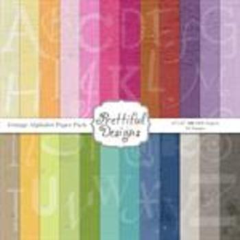 Grunge Alphabet Digital Paper Pack
