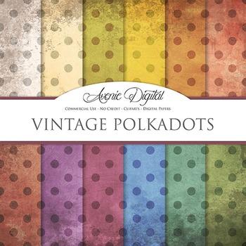 Grunge Polka dots Digital Paper Textures Background scrapb