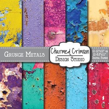 Grunge Rusty Metal Digital Paper 1425