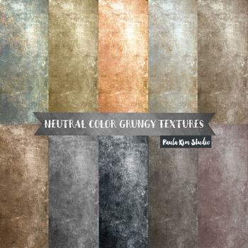 Grungy Digital Paper Textures - Neutral Colors