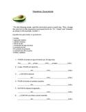 Guacamole: Spanish Commands (Imperative) Worksheet