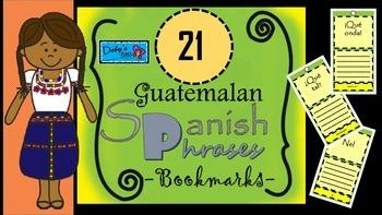 Guatemalan Spanish Phrases Bookmars