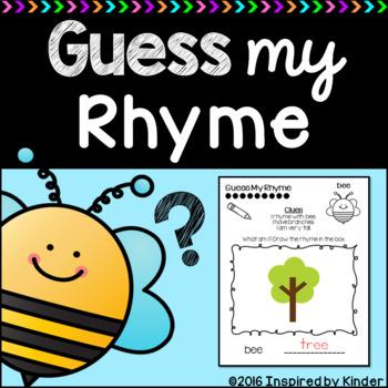 Rhyming Word Practice: Guess My Rhyme