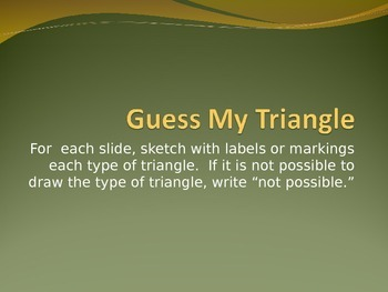 Guess My Triangle