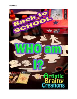 Shoebox Diorama: Who Am I? Back to School Fun