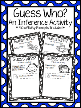 Guess Who Predicting/Inference Craftivity