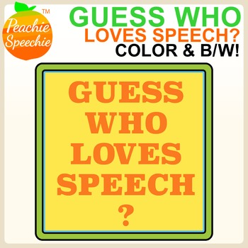 Guess Who Loves Speech? Mini Articulation Card Decks and Clues!