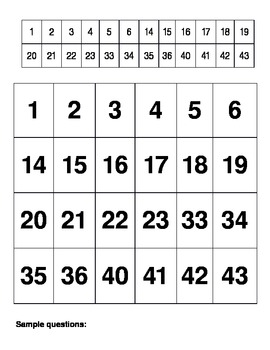 Guess Who Numbers