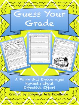 Guess Your Grade - Effective Effort Form