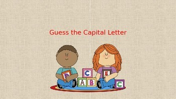 Guess the Capital Letter
