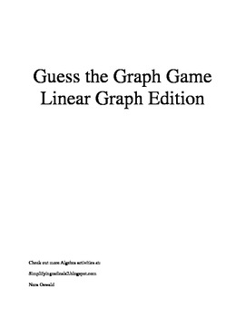 Guess the Graph - Linear Graph Edition