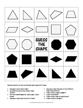 "Guess the Shape - a ""Guess Who"" style game for Polygons"