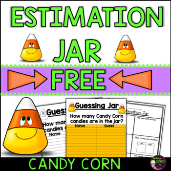 Guessing Jar- with Candy Corn (FREE)