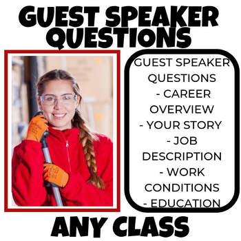 Guest Speaking questions High School