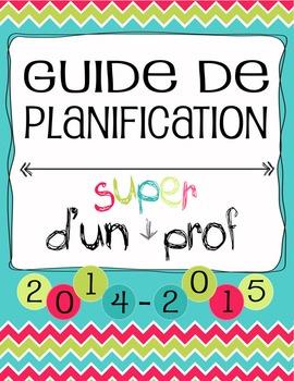 Guide Planificateur / Agenda pour Enseignant - SECONDAIRE