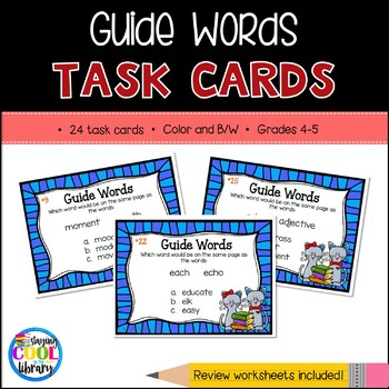 Guide Word Task Cards for Grades 4-6