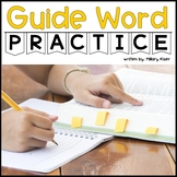 Guide Word Printable Activities