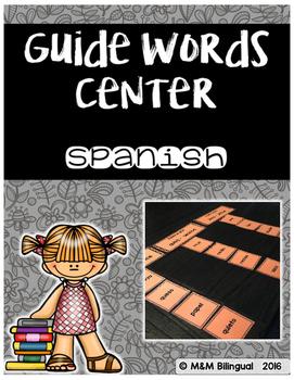 Guide Words Center {SPANISH}