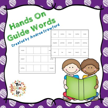 Guide Words Task Cards and Activity