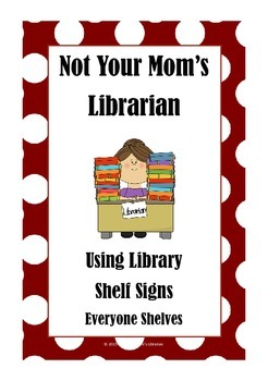 Guide for Library Shelf Signs - Everyone Section- Red Dot