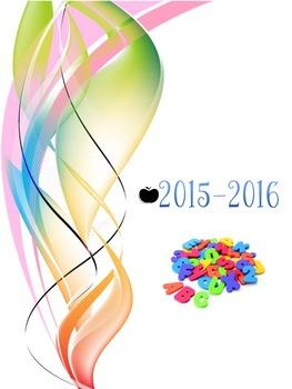 Guide planificateur / agenda d'enseignant(e) 2015-2016 (6