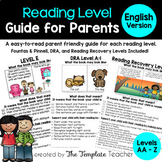 Reading Level Guide:  A Parent's Handbook for their Child'