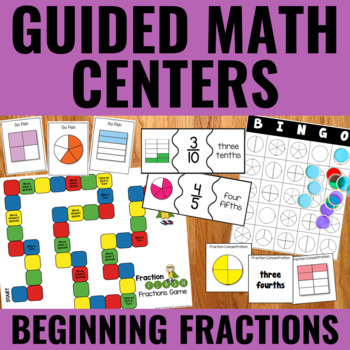 Guided Math: Beginning Fractions Centers