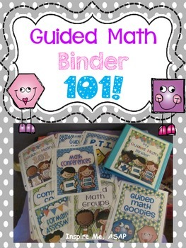 Guided Math Binder Cover Pages