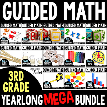Guided Math - Grade 3 - YEARLONG GROWING BUNDLE