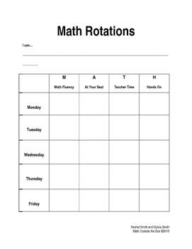 Guided Math - Math Rotation for Students