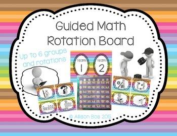 Guided Math / Math Workshop Rotation Board