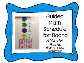 Guided Math Signs for Board