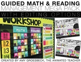 Guided Math and Reading Rotation Management Mega Pack