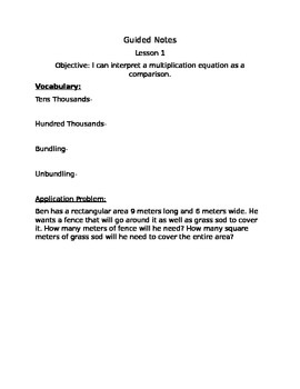 Guided Notes Engage NY Module 1