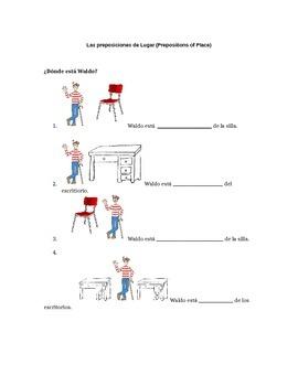Guided Notes for ¿Dónde está Waldo?-Prepositions of Locati