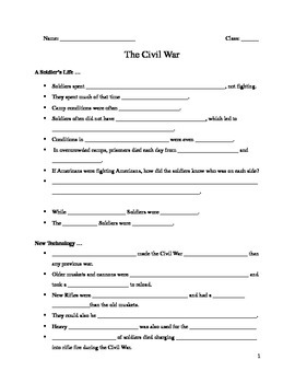 Guided Notes on the U.S. Civil War