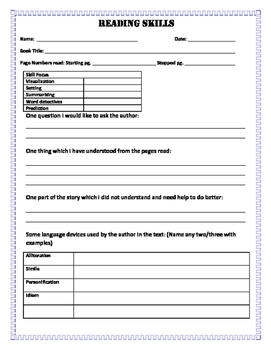 Guided Reading Activity Sheets