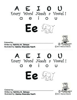 Guided Reading Alphabet Books - Vowel E - Level 2