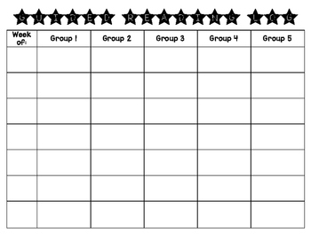 Guided Reading - Book Log by Groups