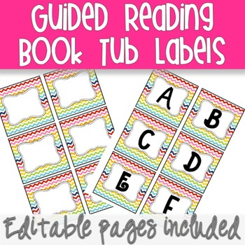 Guided Reading Book Box Labels