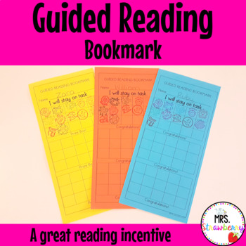 Guided Reading Bookmark Incentive