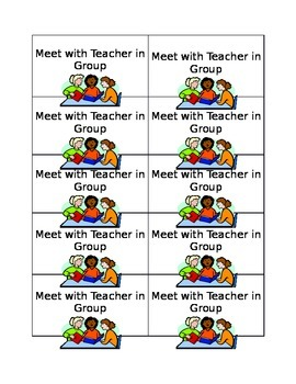 Guided Reading Center Pocket Chart Labels
