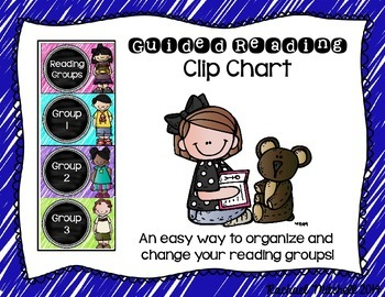 Guided Reading Clip Chart- Primary Colors & Chalkboard