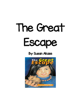 Guided Reading Comprehension Booklet for The Great Escape