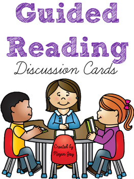 Guided Reading Discussion Cards FREEBIE!