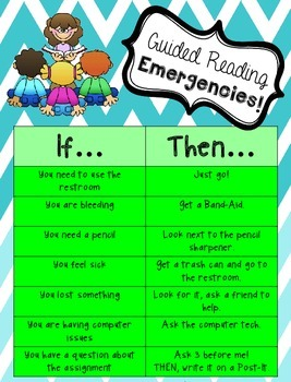 Guided Reading Emergencies