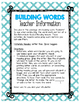 Guided Reading Emergent Word Work: Building Words