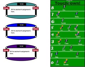 Guided Reading Football Field - Center Tracker