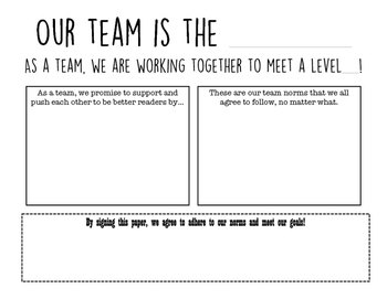 Guided Reading Goal Setting Activity