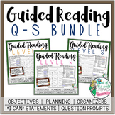 Guided Reading Lesson Plans Bundle: Levels Q-S